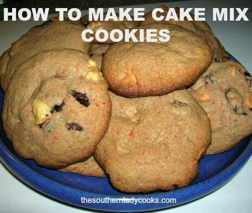 HOW TO MAKE CAKE MIX COOKIES