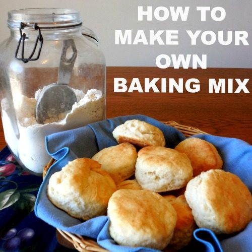 HOW TO MAKE YOUR OWN BAKING MIX