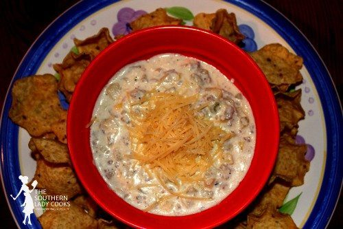 HOT ARTICHOKE AND SAUSAGE DIP