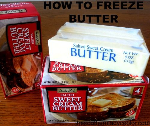 HOW TO FREEZE BUTTER