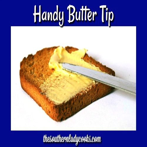 BUTTER – Handy Food Tip